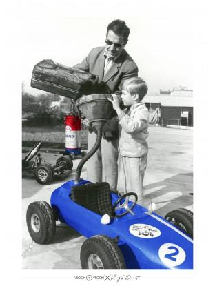 WALLPAPER : Père et Fils - Bolide bleu
