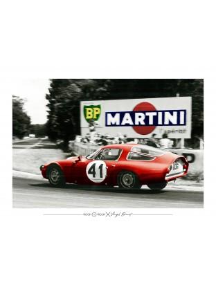 WALLPAPER : Alfa Romeo Giulia TZ - 24 Heures du Mans 1964