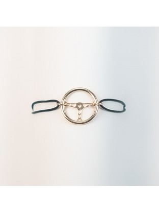 Bracelet Volant OR JAUNE- Argent Plaqué Or Jaune
