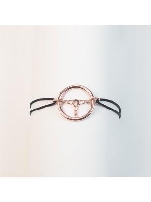 Bracelet Volant OR ROSE- Argent Plaqué Or Rose
