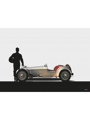 WALLPAPER : Lotus Super Seven S2 et son pilote - Première mascotte Vroom Vroom