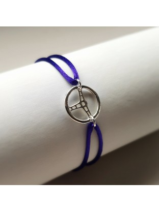 Bracelet LE BABY- Volant Argent - 15 mm