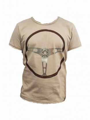 T-shirt Volant Vroom Vroom - S Noisette