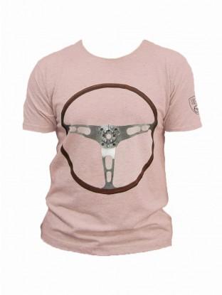 T-shirt Volant Rose Pâle Moucheté